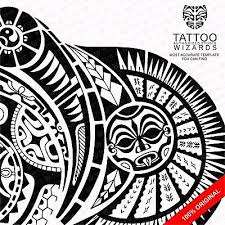 rock dwayne johnson alike maori polynesian tattoo stencil template