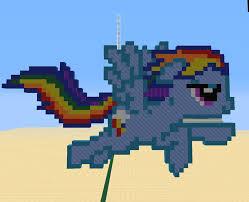 pixel art car rainbow dash minecraft pixel art by zeldagod4 on deviantart