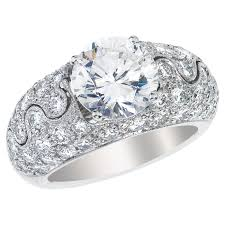 wedding ring jackets pave platinum ring jacket for solitaire