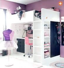 chambre mezzanine fille lit sureleve fille lit mezzanine fille avec bureau decoration