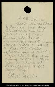 santa writing paper edsel ford henry ford s son s letter to santa edsel ford s letter to santa