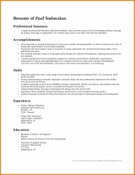 Resume Template Purdue Professional Summary Example For Resume Resume Examples And Free