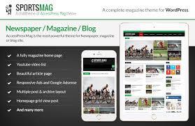 free wordpress magazine theme sportsmag accesspress themes