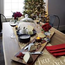 crate and barrel table runner holiday decorating christmas cheer runner in table runners crate