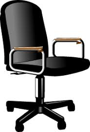 chaise a bureau clipart chaise