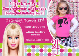 barbie invite barbie invitation barbie jrcreativedesigns