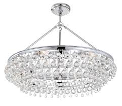 Crystal And Chrome Chandelier 275 Ch Calypso 6 Light Crystal Teardrop Chrome Chandelier