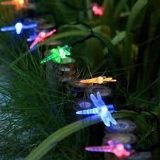 qedertek dragonfly solar string lights outdoor 20ft 30 led