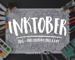 inktober week 1 one coloring page a day by piccandle on deviantart
