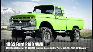 Vintage Ford F100 Truck Parts - 1966 ford f100 4wd short bed monster truck fresh 460 v8 w all msd