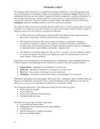 Crisis Management Resume Download The Crisis Management Plan