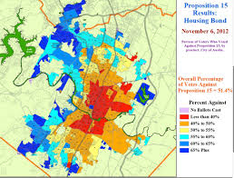 City Of Austin Map by Map Shows Precinct Results For Austin Housing Bond Defeat Texas