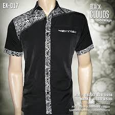 Baju Batik Batik seragam batik pria black clouds ex 017 baju batik modern