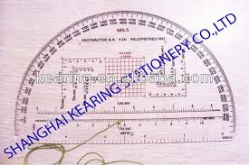 kearing military protractor grided template with protractor