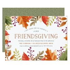 friendsgiving feast thanksgiving dinner invitation zazzle