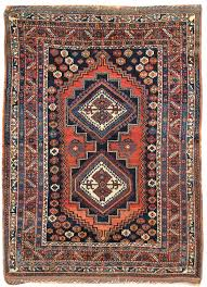 Red And Blue Persian Rug by Antique Afshar Rug Jf6085