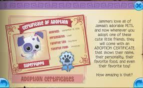 Adoption Certificate Animal Jam Wiki