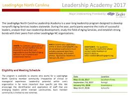leadership academy 2017 leadingage north carolina