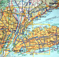 New York On Map A Road Map Of The New York City Ny Metropolitan Area Stock Photo