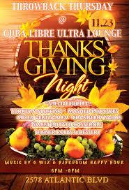 throwback thursday thanksgiving buffet cuba libre ultra lounge