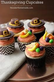 thanksgiving cupcakes pilgrim hats and cornucopia hoosier