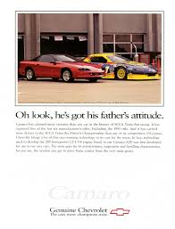 car advertisement the few ads of the 1990s 4th gen camaro chevys only