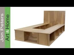 Build A Wooden Platform Bed by Build A Platform Bed With Storage Part 1 Youtube