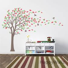 Large Nursery Wall Decals Large Tree Wall Stickers Baby Nursery Tree Wall Decals Leaves
