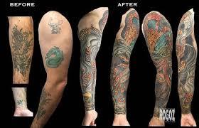 phoenix sleeve cover up tattoo by boston rogoz tattoos