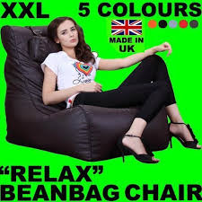 xxl relax leather beanbag high back head rest chair gamer gaming