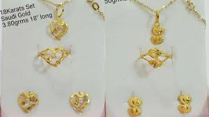 small size gold chain pendant sets designs with weight
