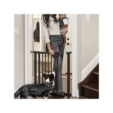 and sofie by evenflo walk thru pressure safety gate black
