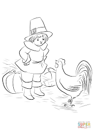 pilgrim boy book pilgrim boy and plymouth rock rooster coloring page free