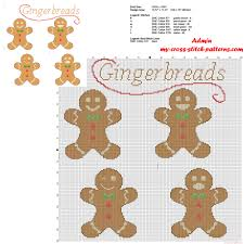 christmas cookies gingerbreads free cross stitch pattern download