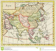 Map Of Asia Countries by Antique Map Of Asia Shows India China Russia Japan 1750 Editorial