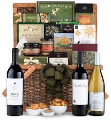 Wine Basket Gifts Napa Valley Wine Gift Basket Luxury Wine Baskets The