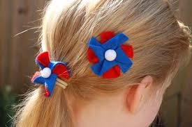 felt hair accessories pinwheel felt hair accessories blue wood