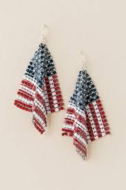 Red Chandelier Earrings American Flag Mesh Chandelier Earring Francesca U0027s
