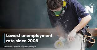 unemployment at lowest rate since gfc nz national party