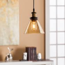 Colored Glass Pendant Lights Carina Colored Glass Mini Pendant Lamp Amber Southern