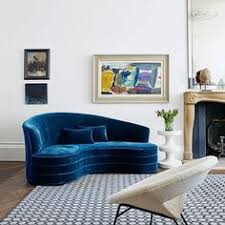 blue sofa living room 25 reasons to say yasss to a blue sofa large white dark wood