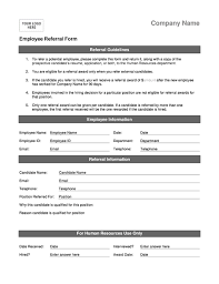 employee referral form office templates