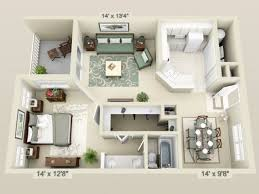 1 bedroom floor plan apartment 3d floor plans 3d floor plan image 2 for the 1 bedroom
