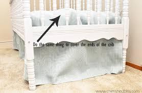 Burlap Bed Skirt The Easiest Diy Crib Skirt Tutorial Ever Cherished Bliss