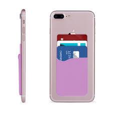 violet purple blu dash 5 0 rubber silicone stick on card pocket purple