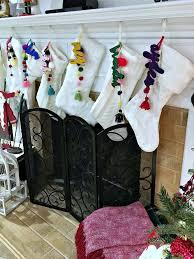 personalized christmas stockings colorful diy christmas tags