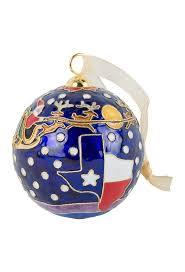 santa cloisonne ornament pinto ranch