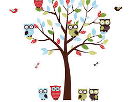 pink tree gray white owl wall decals owl wall decal owl