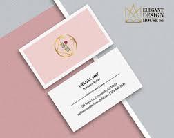 floral business card floral business card etsy
