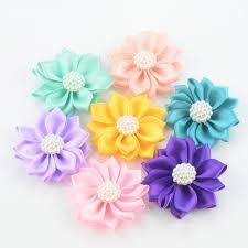 satin ribbon flowers 500 pcs lot mini multilayer satin flowers satin ribbon flower